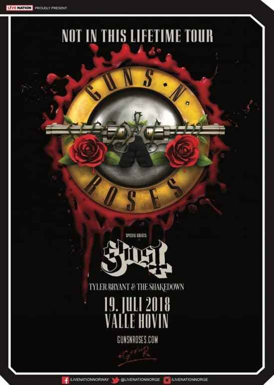 Ghost supportar Guns N' Roses 1