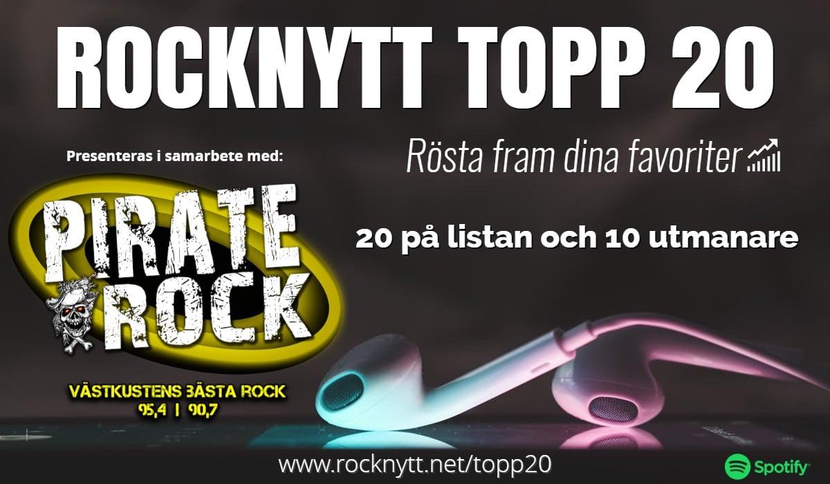 Rocknytt Topp 20 på Pirate Rock