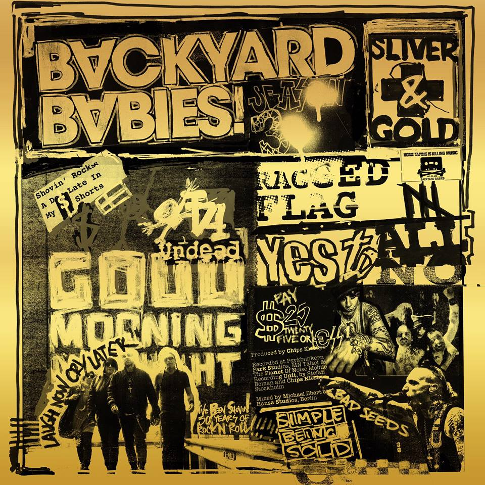 Backyard Babies Sliver & Gold